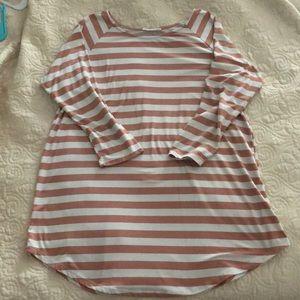 Hazel & Olive, Striped tunic length tee